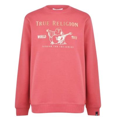 Pulover True Religion visiniu rose