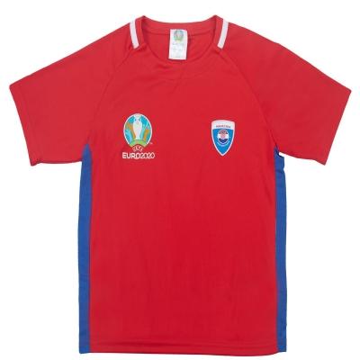 Tricou UEFA Euro 2020 Croatia poliester pentru copii rosu