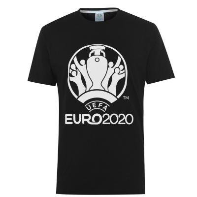 Tricou cu imprimeu UEFA Euro 2020 pentru Barbati negru