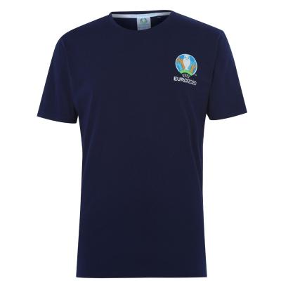 Tricou cu imprimeu UEFA Euro 2020 pentru Barbati bleumarin