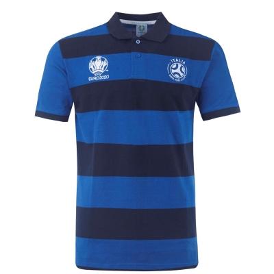 Tricouri polo cu dungi UEFA Euro 2020 Italy Shirt pentru Barbati albastru roial bleumarin