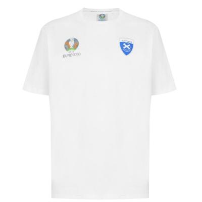 Tricou UEFA Euro 2020 Scotland Core pentru Barbati alb