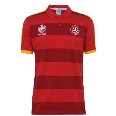Tricouri polo cu dungi UEFA Spania Shirt pentru Barbati rosu