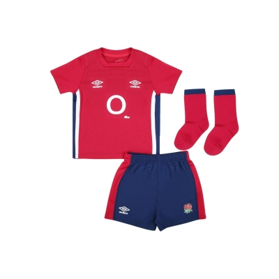 Umbro Anglia Rugby Alternate Kit 2021 2022 pentru Bebelusi rosu albastru