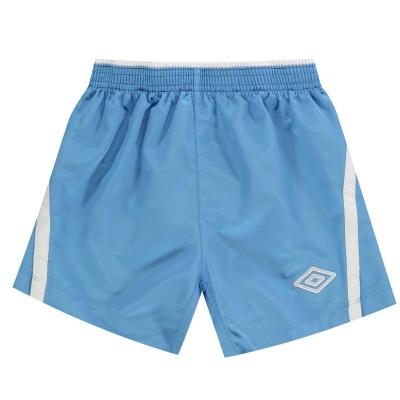 Pantaloni scurti Umbro Team pentru copii albastru alb