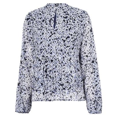 Bluza Vila Moltan bleumarin blazer