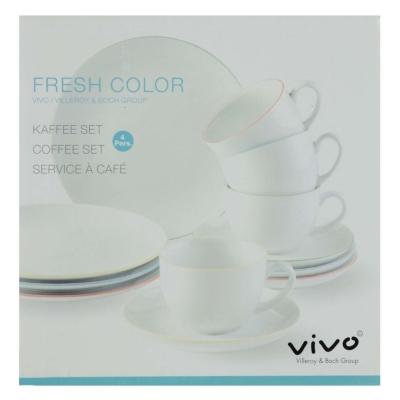 Vivo Fresh Colour 12 Piece Coffee Set
