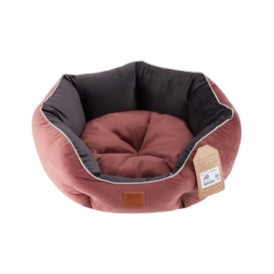 Waggy Tails Corduroy Round caine Bed roz