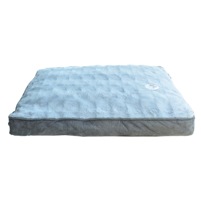 Waggy Tails Deluxe Sherpa Pet Bed gri