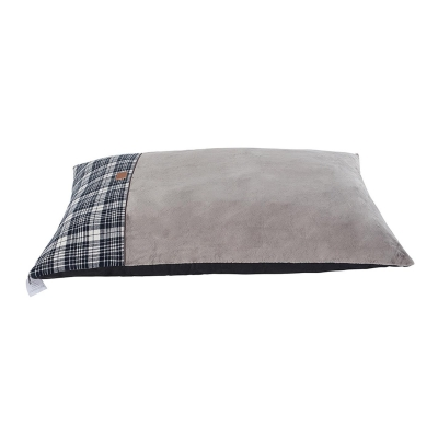 Waggy Tails Paw Print Pet Bed gri patratele
