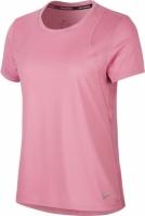 Mergi la Tricou alergare roz Nike maneca scurta Run femei