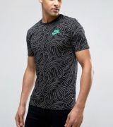 Tricou bumbac cu imprimeu Nike Swoosh All Over Print barbati