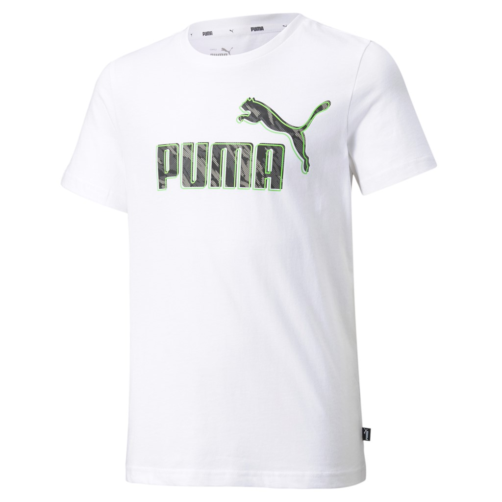 Tricou alb bumbac Puma Graphic baieti