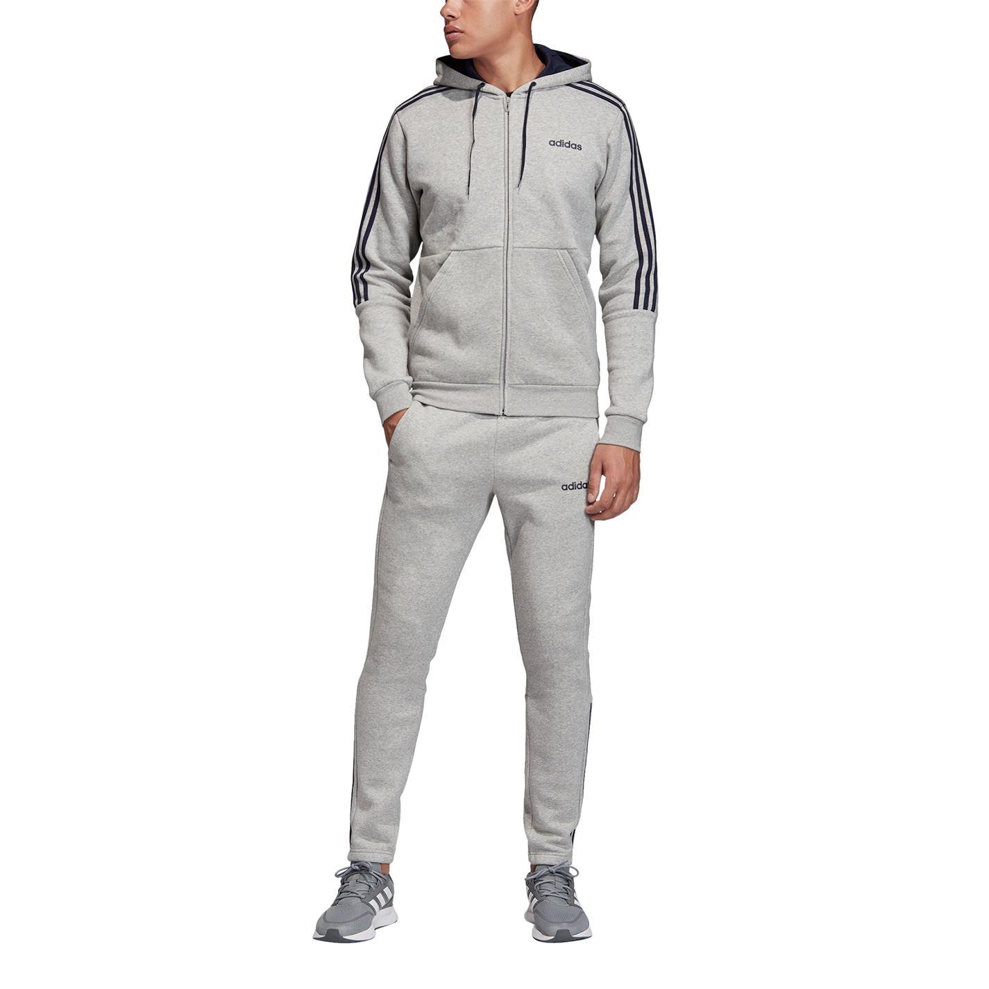 Mergi la Treninguri adidas cu fermoar 3-Stripes pentru Barbati gri albastru