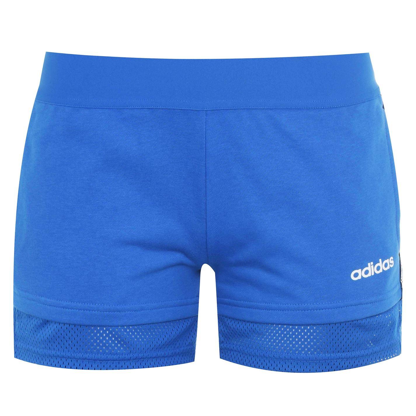 Mergi la Pantaloni scurti adidas Essentials Mini Me pentru femei albastru alb