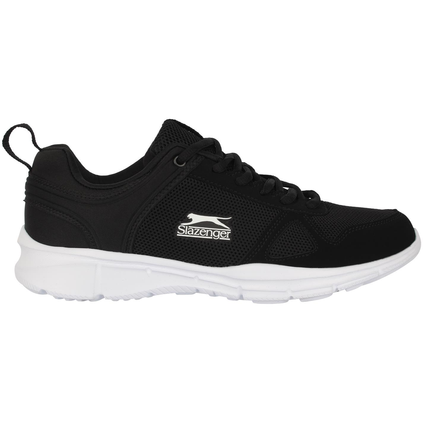 Adidasi alergare Slazenger Force plasa pentru Barbati negru alb