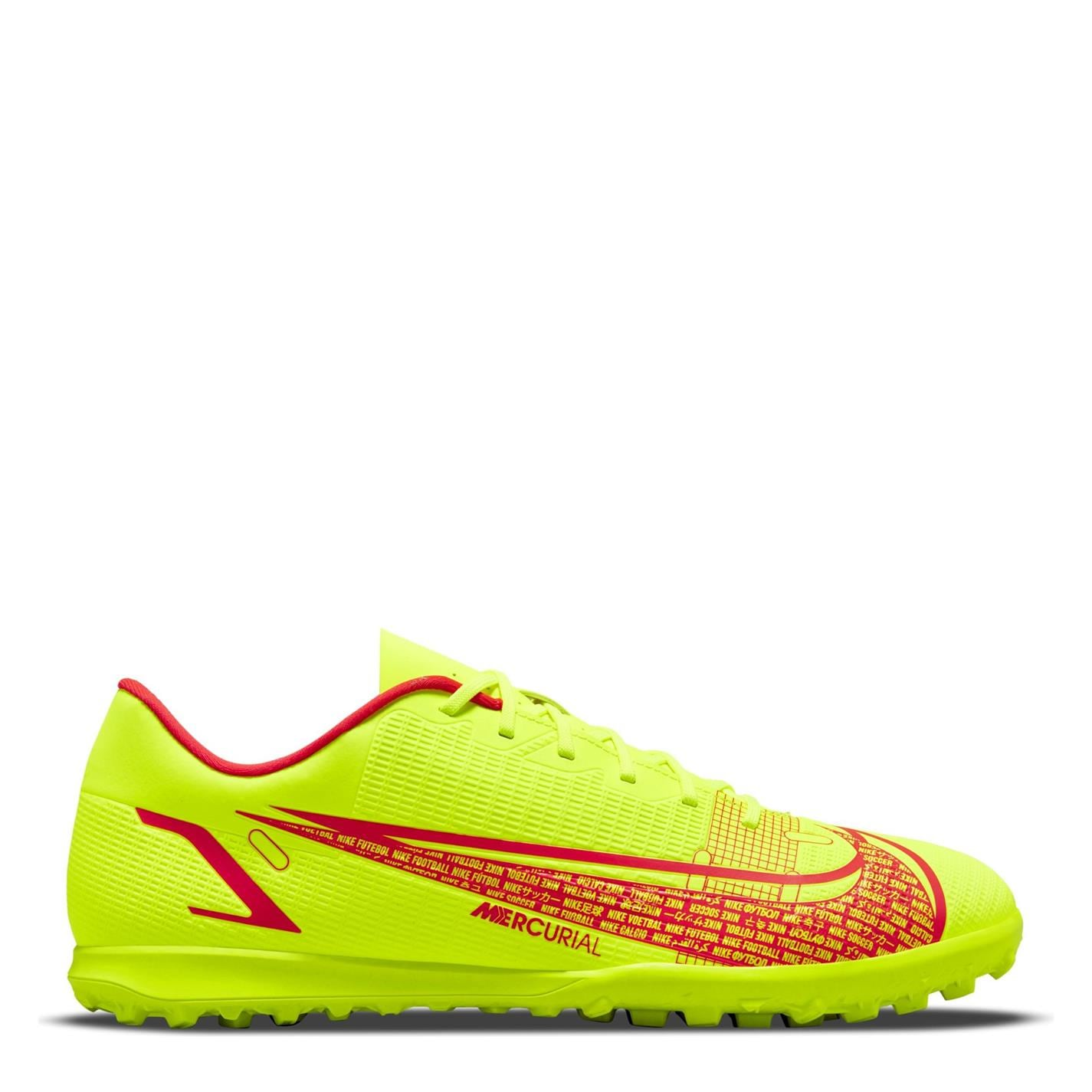 Adidasi Gazon Sintetic Nike Mercurial Vapor Club galben rosu inchis