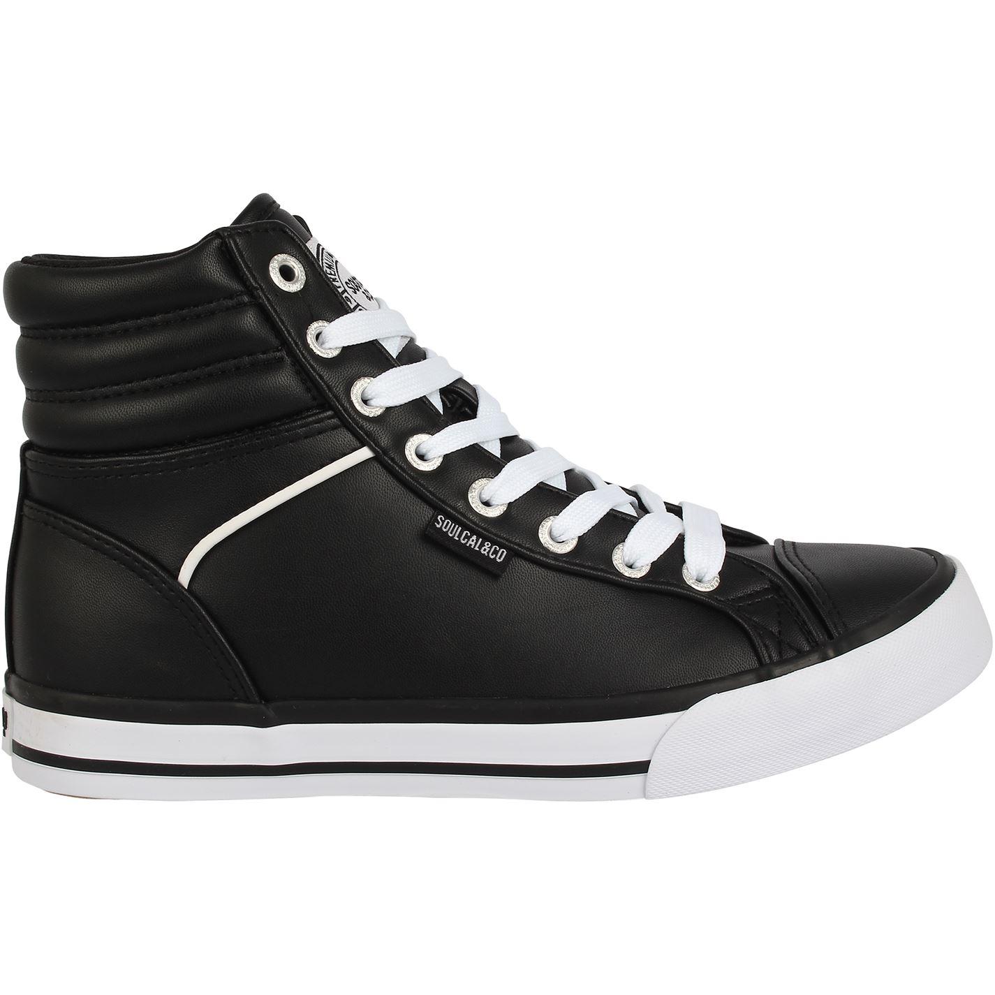 Adidasi inalti SoulCal Asti Juniors negru alb
