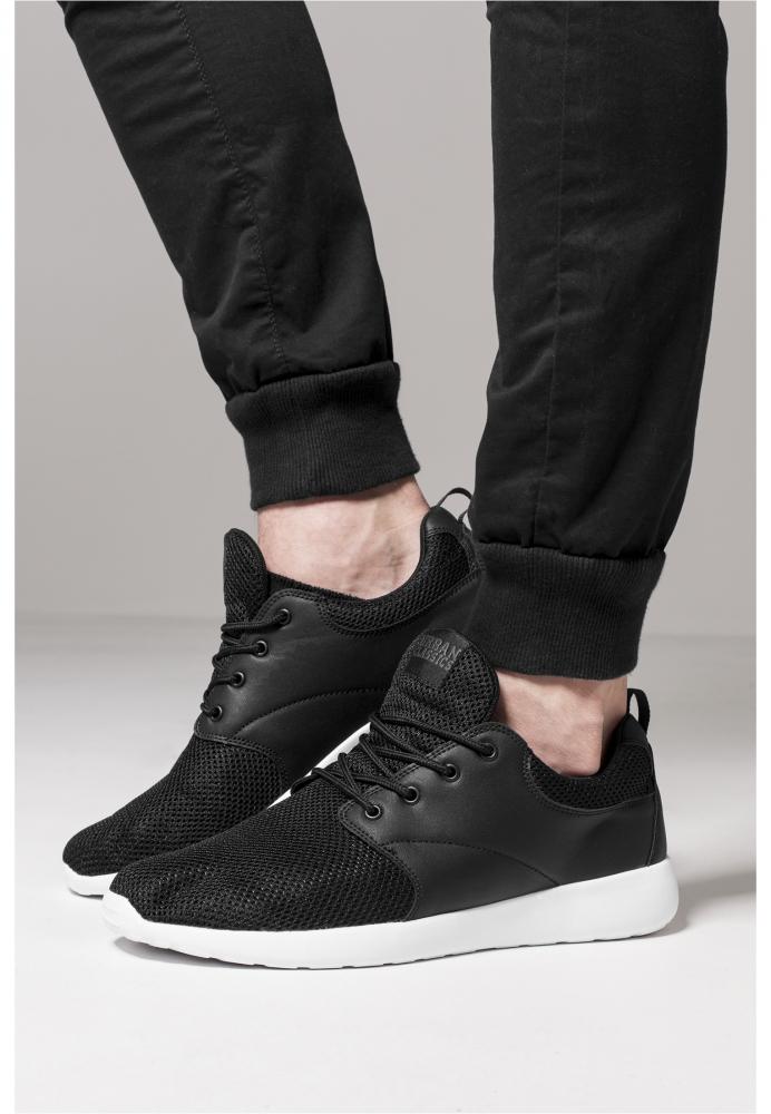 Adidasi Light Runner negru-alb Urban Classics