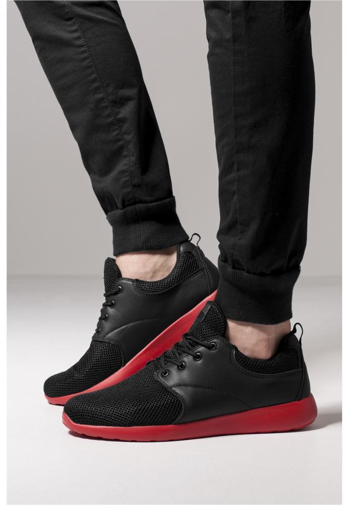 Adidasi Light Runner negru-rosu Urban Classics foc