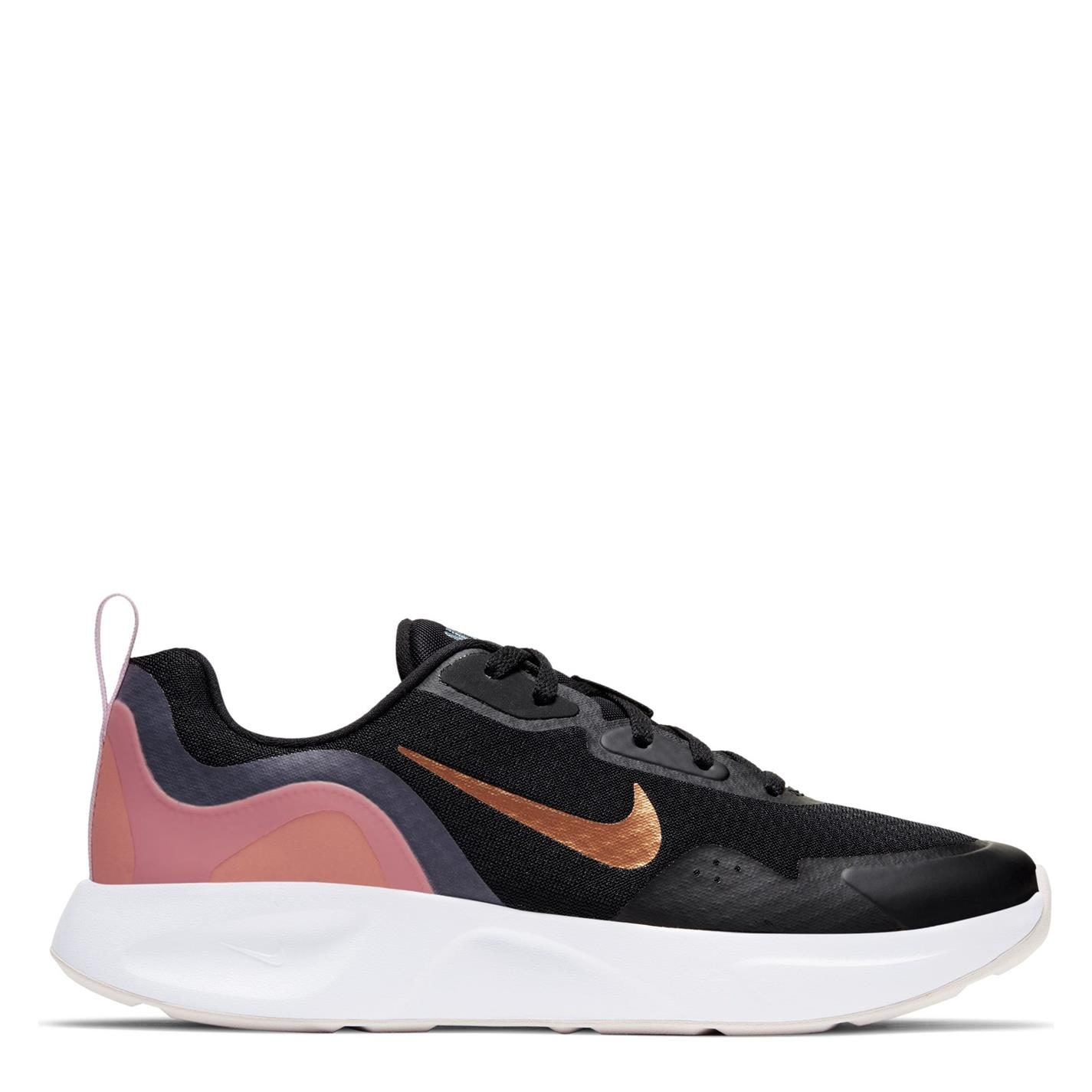 Adidasi sport Nike Wearallday pentru femei negru met roz
