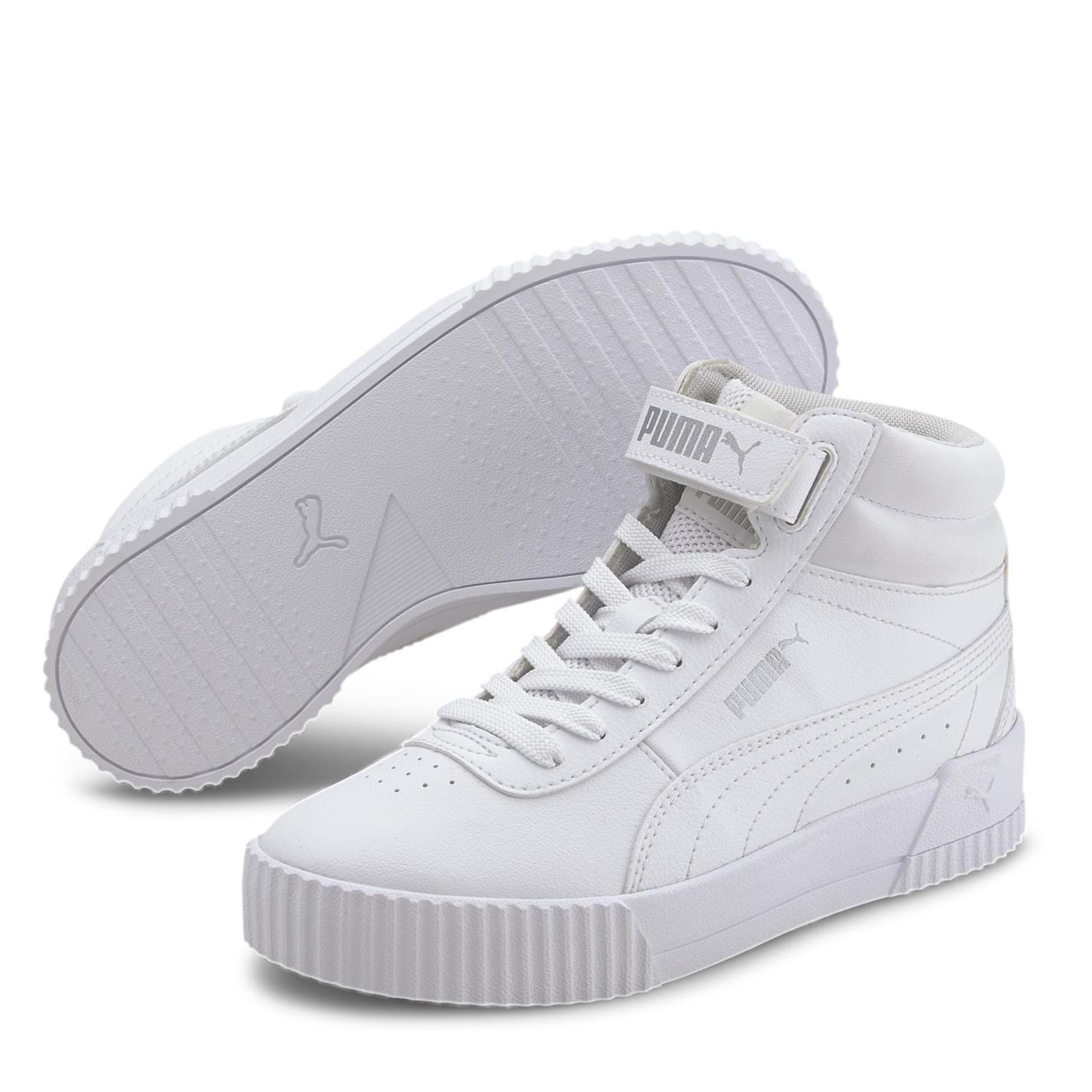 Adidasi sport Puma Carina Mid pentru fetite alb