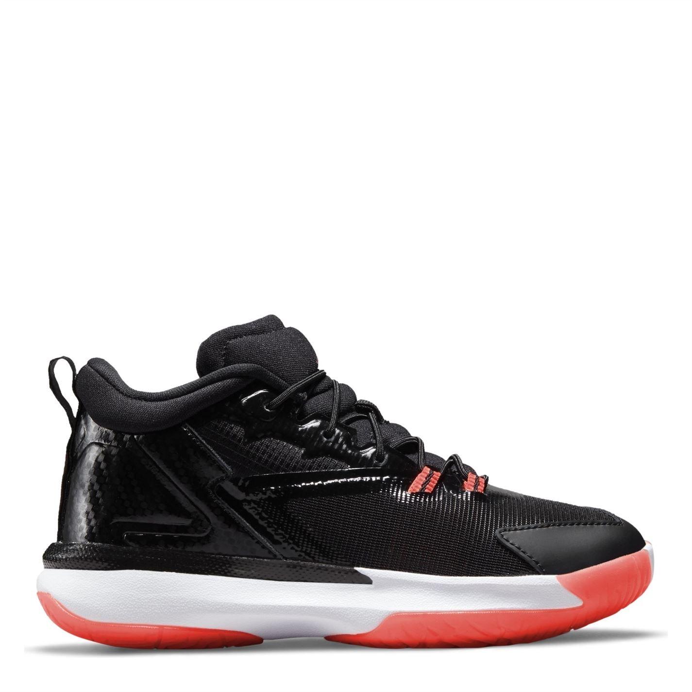 Adidasi pentru baschet Air Jordan Zion Z-Code baieti negru rosu alb