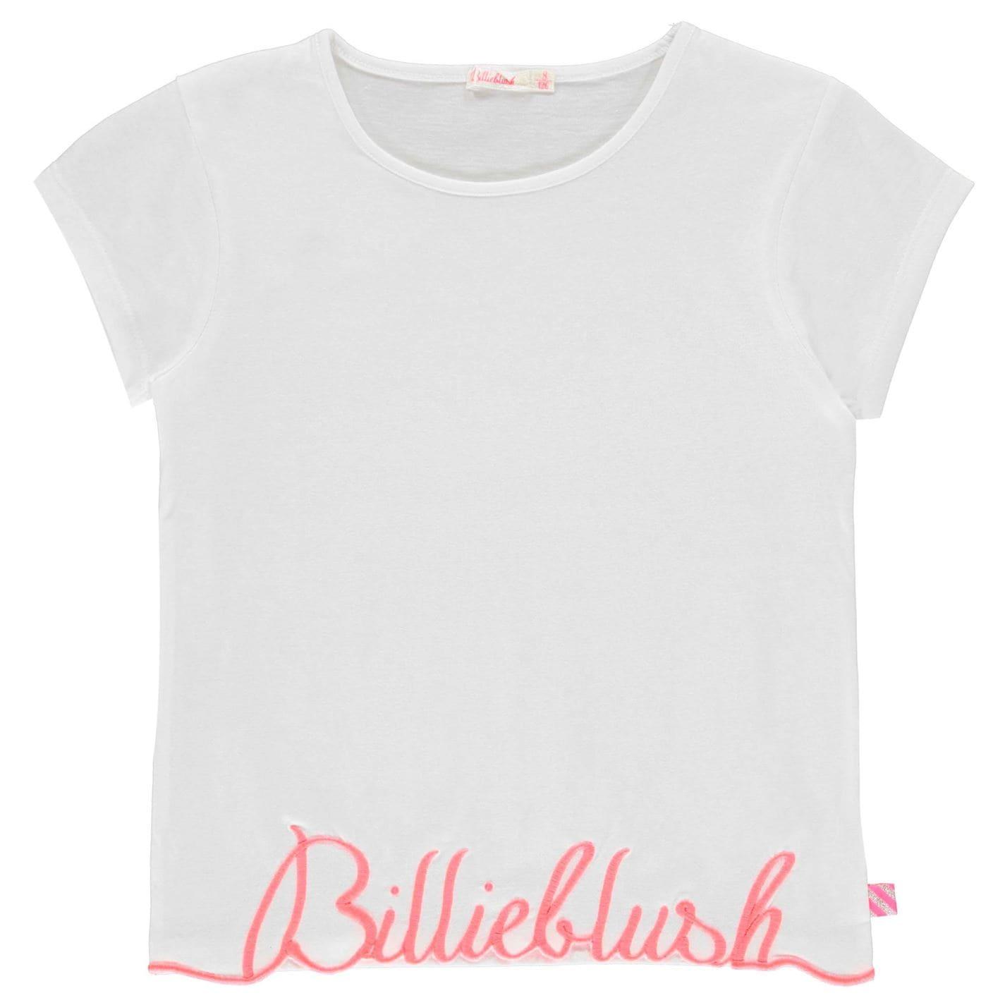 Tricou cu imprimeu Billieblush Signature alb 10b