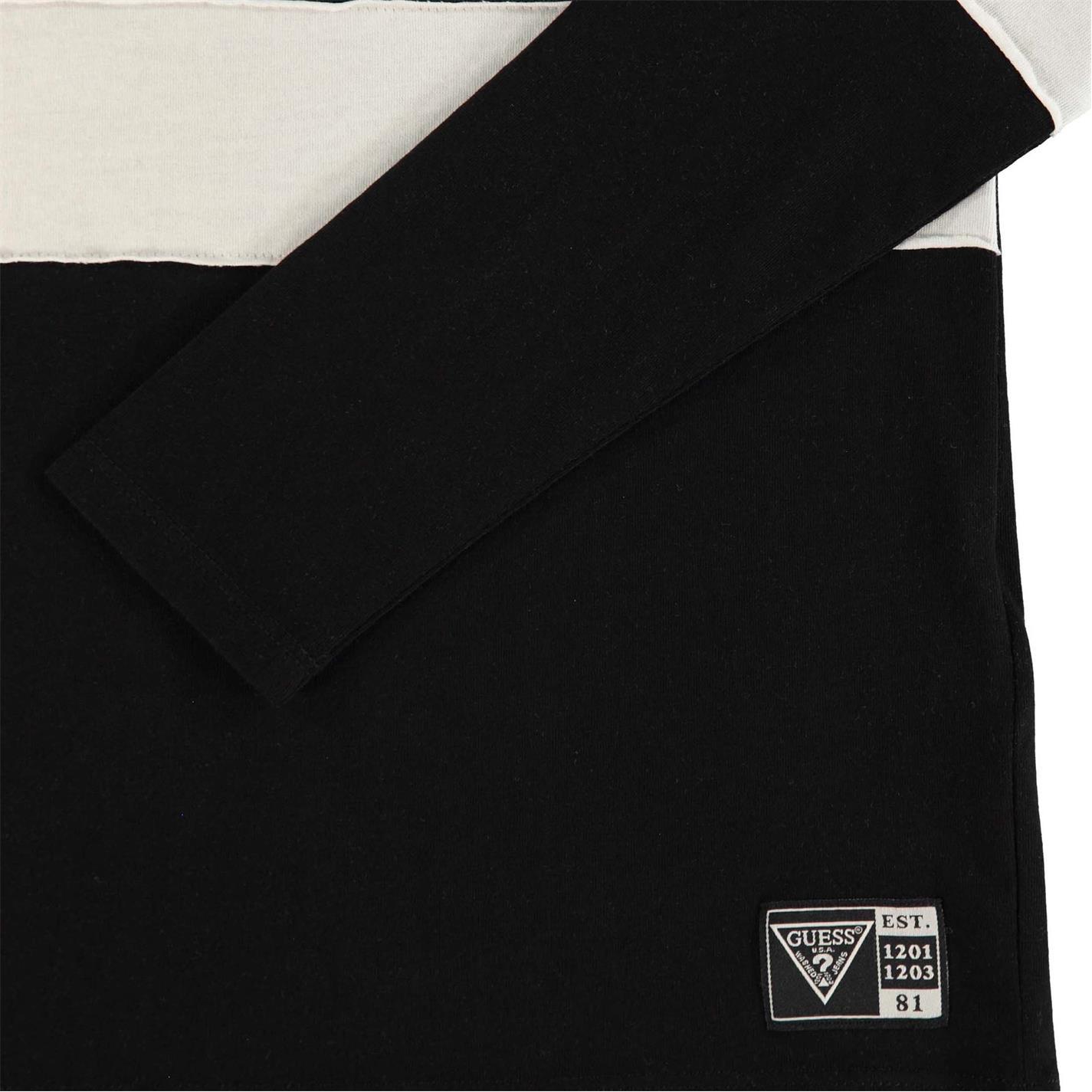 Bluza maneca lunga Guess cu dungi jet negru a996