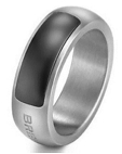 Breil Jewels Cave Collection - Anello Acciaio Satinato Ip Nero Ss Ip negru Ring 19