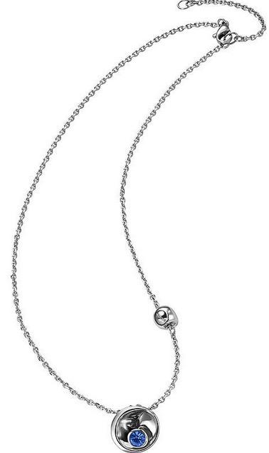 Breil Jewels Celebrate Collection Collana Acciaio Con Pendente Crsitallo Azzurro