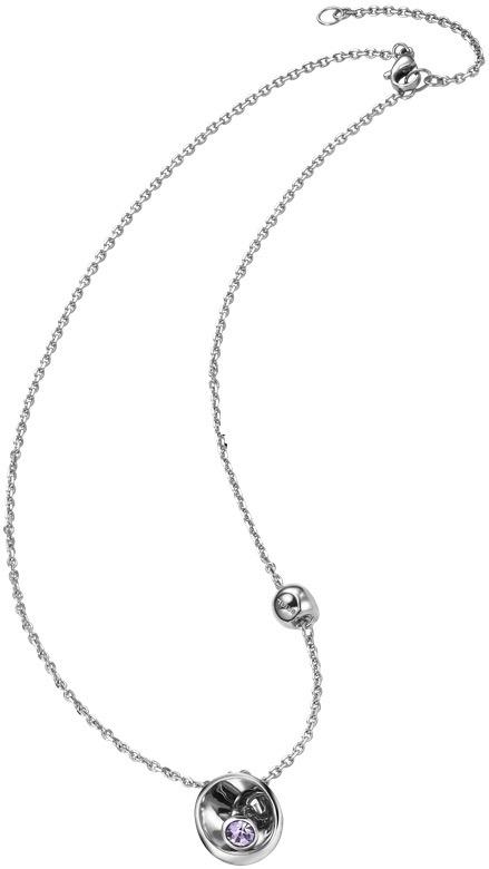 Breil Jewels Celebrate Collection Collana Acciaio Con Pendente Crsitallo Viola