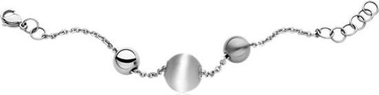 Breil Jewels Chaos Collection Bracciale Sfere In Acciaio Lucido E Satinato Pietre Naturali Bianche