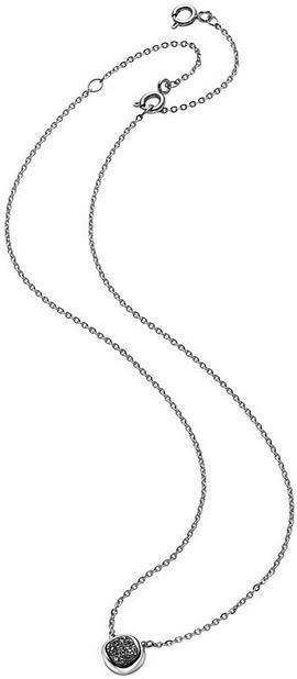 Breil Jewels Moonrock Collection Collana In Acciaio Con Pendente Piccolo Pietra Naturale Nera