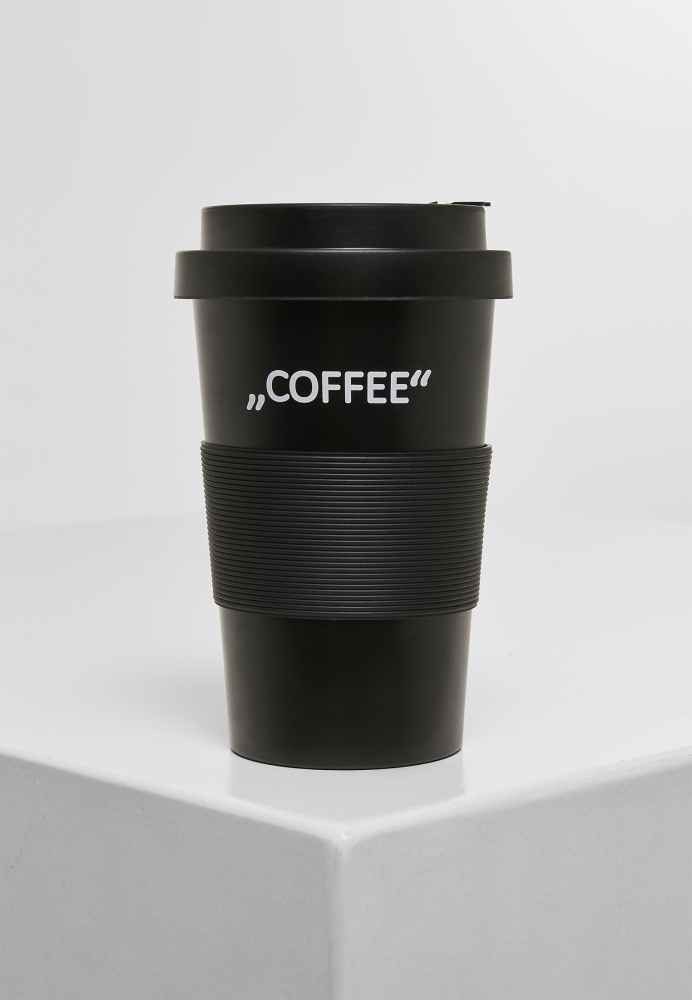 Cana Lettered Coffee negru Mister Tee