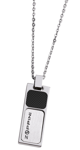 Colier Zoppini Mod Collana Acciaio E Carbonio Stainless Steel And Carbon