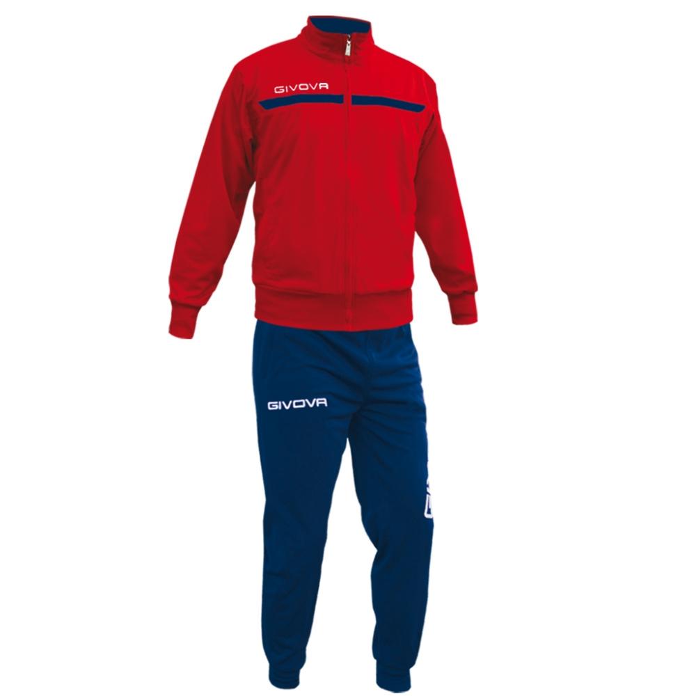 Mergi la Echipament antrenament TUTA GIVOVA ONE cu fermoar Givova rosu albastru