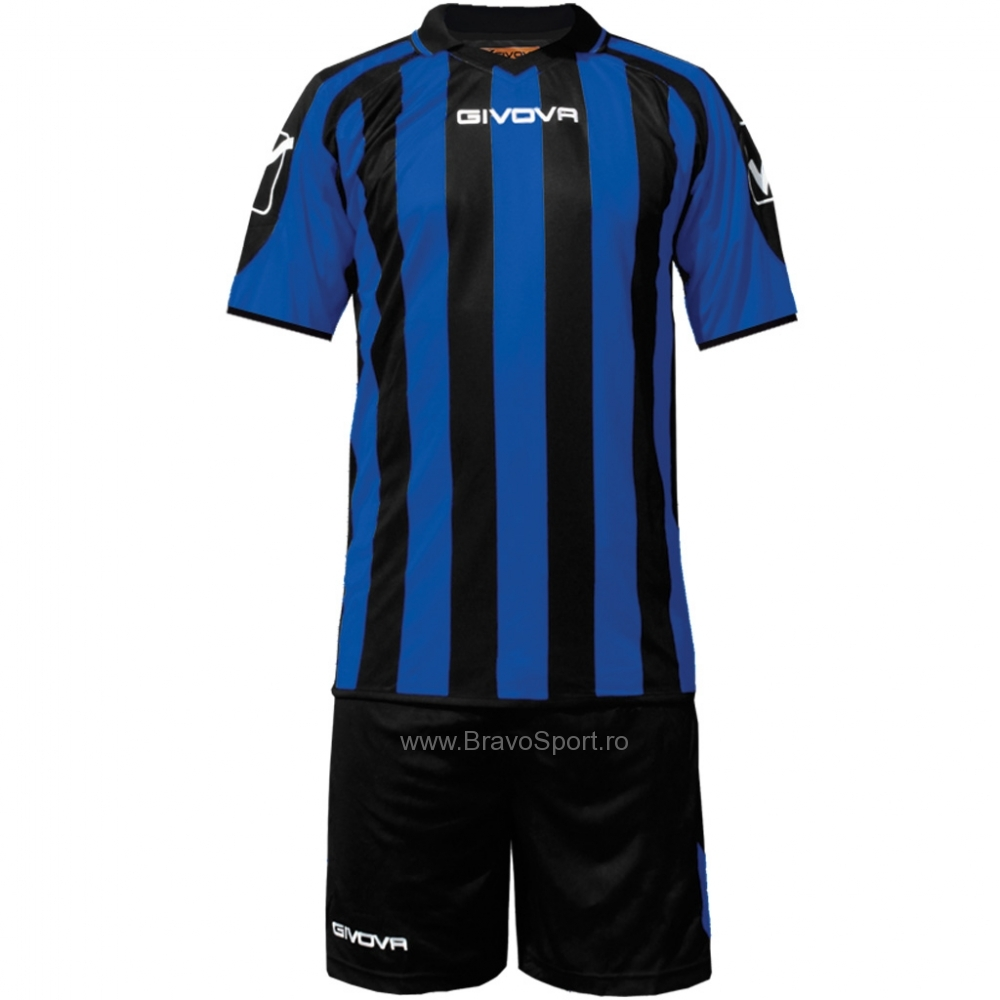 Echipament fotbal KIT Suporter MC Givova negru albastru