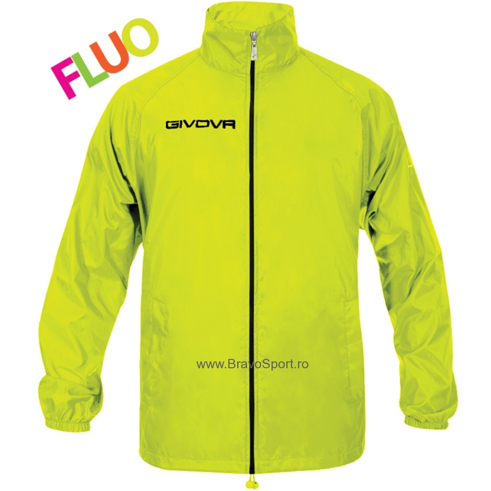 Geaca ploaie BASICO Givova galben fosforescent
