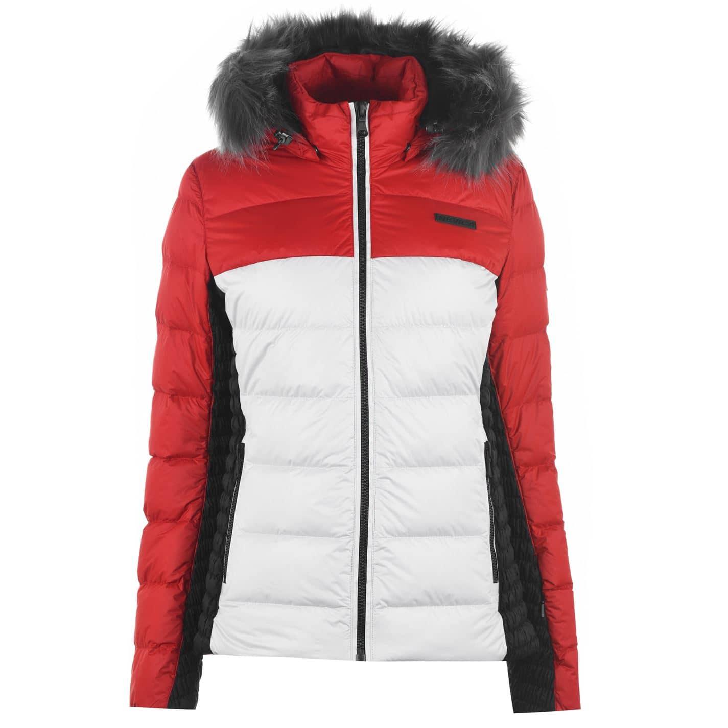Geaca Ski Nevica Stacey pentru Femei alb rosu