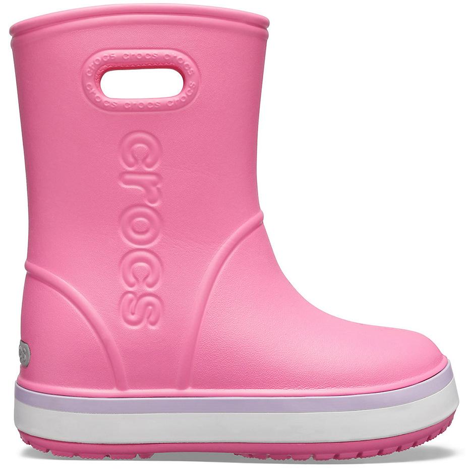 Ghete Crocs ploaie s For Crocband ploaie roz 205827 6QM pentru Copii pentru Copii