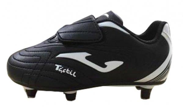Ghete de fotbal pentru copii Joma Tactil 521 negru-alb Removable