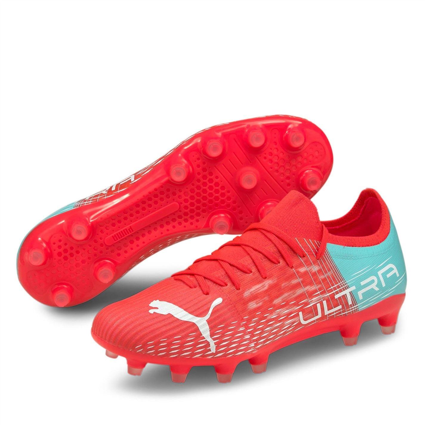 Ghete de fotbal Puma Ultra 3.1 FG pentru Femei sunblaze albastru aqua