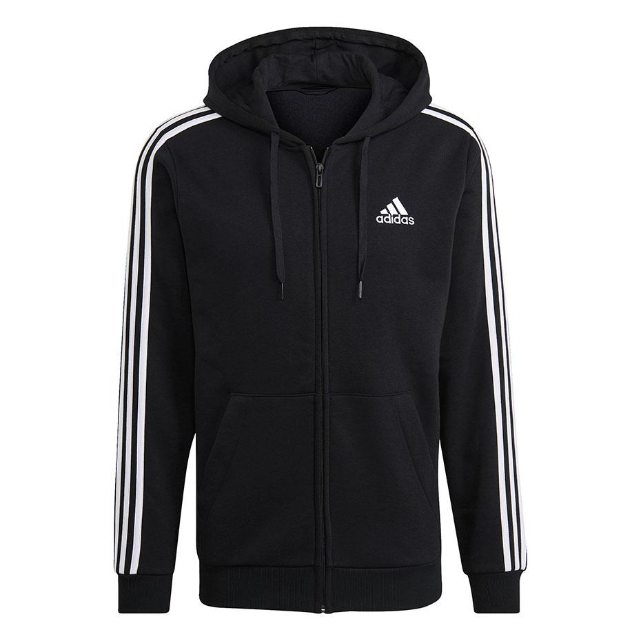 Mergi la Hanorac Adidas Essentials Full-cu fermoar negru GK9051 pentru Barbati