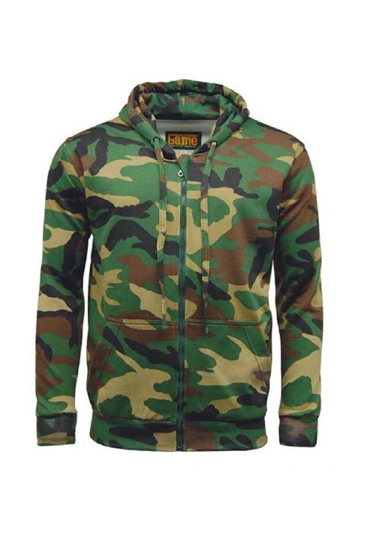 Mergi la Hanorac barbati game technical apparel zip hoodie woodland verde