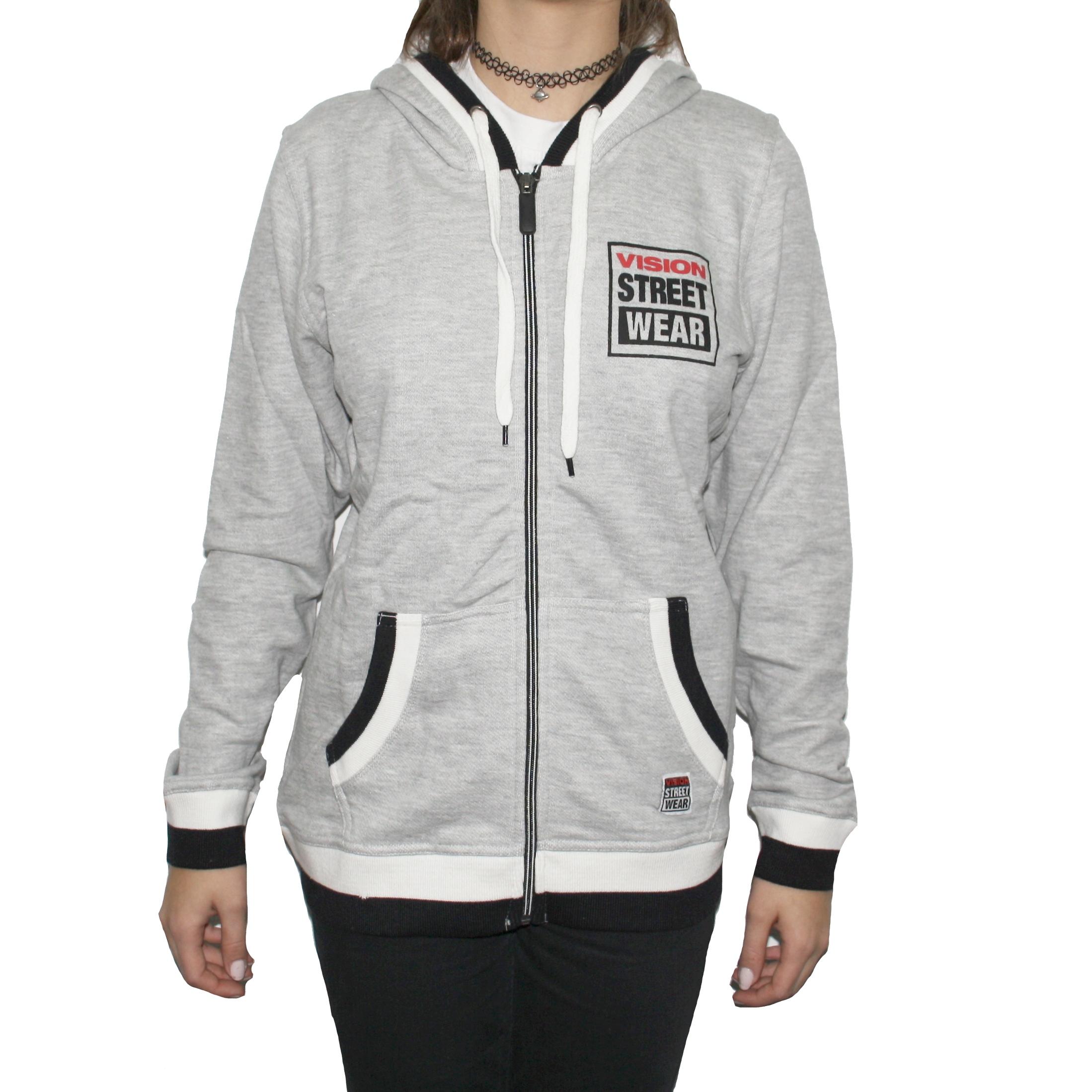 Hanorac femei Zip Thru Hoody Grey Vision Street Wear