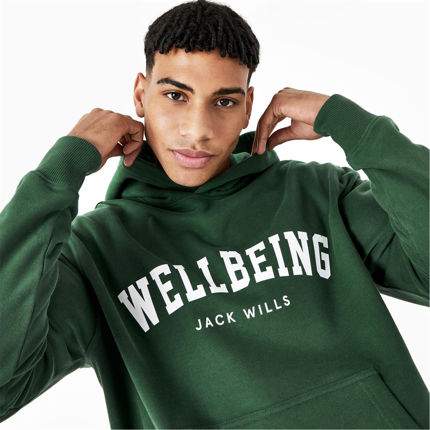 Hanorac Jack Wills Unisex Wellbeing inchis verde