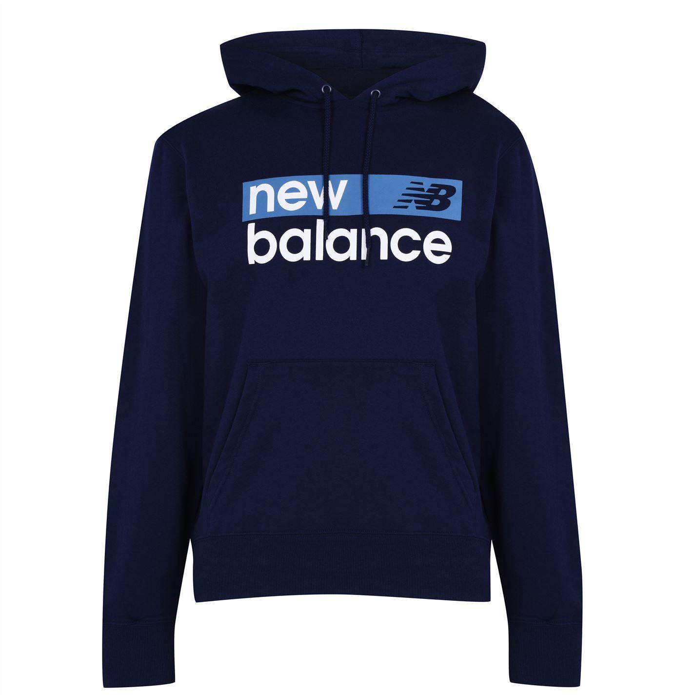 Mergi la Hanorac New Balance Logo pentru Barbati bleumarin