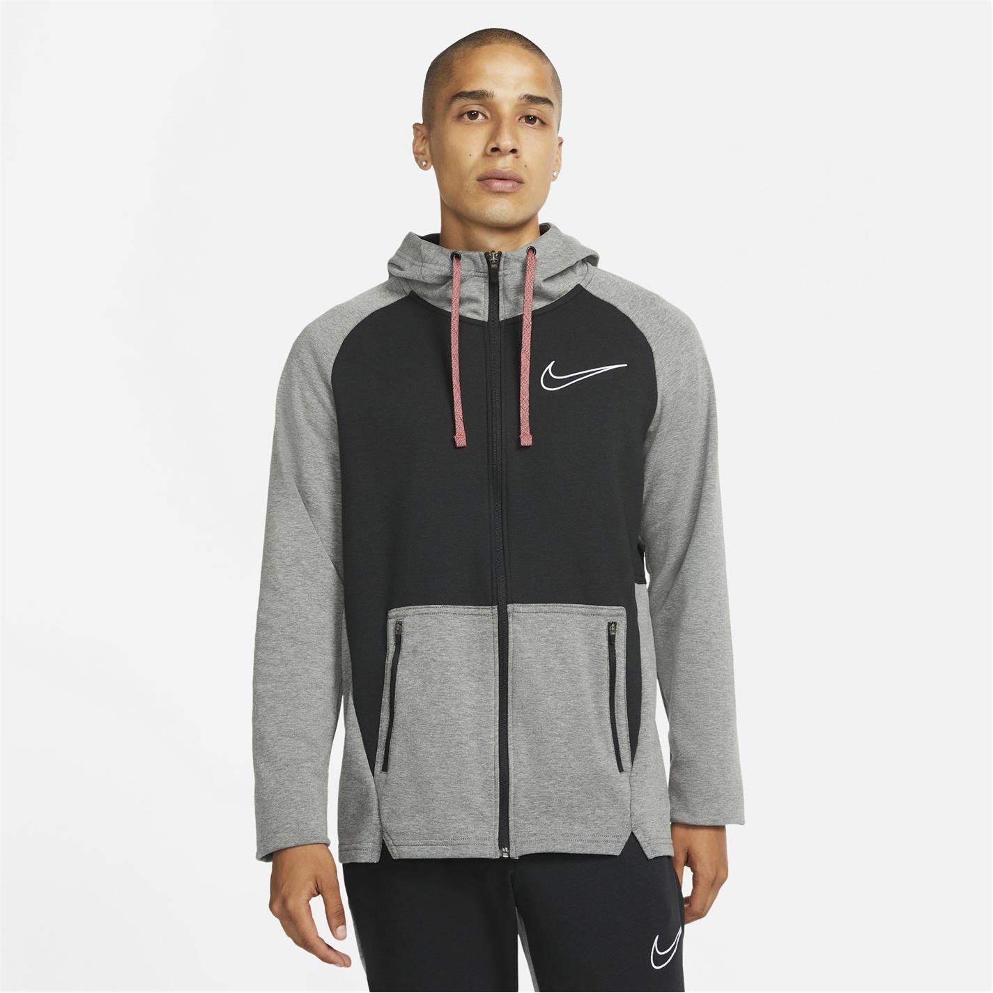 Hanorac Nike Therma-FIT Full-cu fermoar antrenament pentru Barbati negru