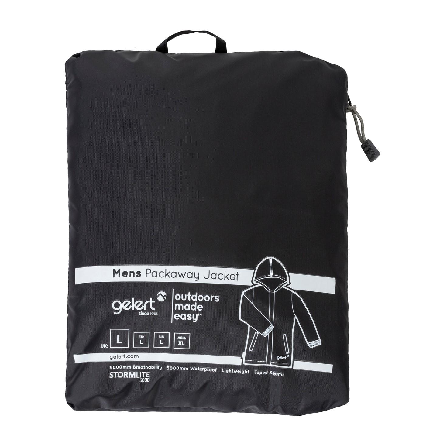 Geci Impermeabile Gelert Packaway pentru Barbati negru